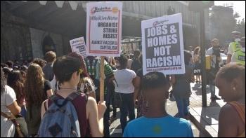 South London #BlackLivesMatter march going past London Bridge, 6.8.16, photo James Ivens