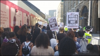 South London #BlackLivesMatter march going past City Hall, 6.8.14, photo by James Ivens