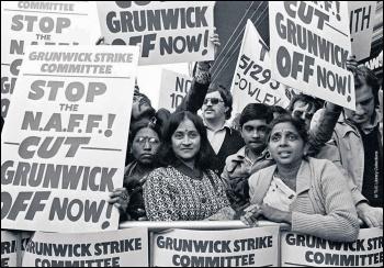 Grunwick picket line, 1976