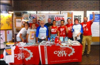 CWI members at the 2016 World Social Forum