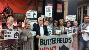 Butterfields tenants and campaigners with John McDonnell, Sept 2016