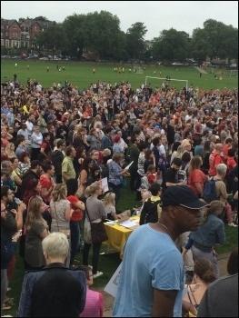 Corbyn rally in Nottingham, Sept 2016, photo Pete Watson