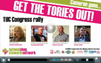 NSSN rally and lobby of the TUC