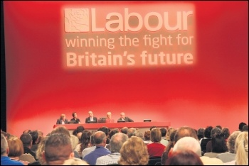 Many Labour conference attendees cheered Socialist Party proposals to deselect Blairites, photo Scottow (Creative Commons)