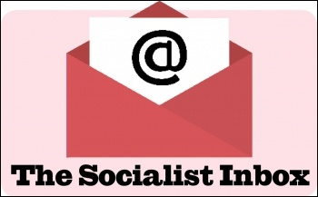 The Socialist inbox: letters to the editors, image Suzanne Beishon