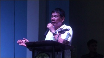 Right-wing populist president of the Philippines Rodrigo Duterte, photo by Patrick Roque (Creative Commons)