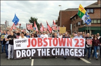 Marching in defence of the Jobstown protesters, photo Socialist Party Ireland