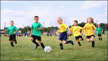 A 2008 survey showed only half of girls and two thirds of boys did the recommended daily amount of physical activity. Schools and sports clubs have faced big funding cuts, which wil only exacerbate the problem, photo by Tysto (Creative Commons)