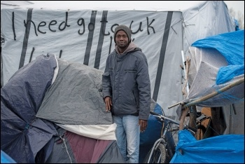 'The Jungle' camp in Calais, photo Paul Mattsson