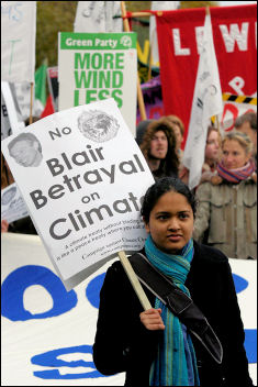 Climate change demo December 2005, photo Paul Mattsson