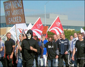 Ten years ago: Lindsey Oil Refinery construction workers' strike, photo Sean Figg