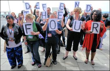 Unison conference 2009: Defend the Four protest, photo Paul Mattsson