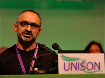 Unison conference 2009: Onay Kasab, photo Paul Mattsson