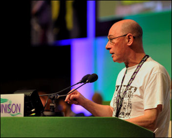 Unison conference 2009: Roger Bannister pulls no punches, photo Paul Mattsson