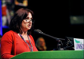 Unison conference 2009: Nancy Taaffe, photo Paul Mattsson