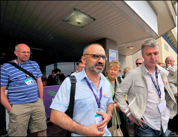 Unison conference 2009: Brian Debus, Onay Kasab and Glenn Kelly, photo Paul Mattsson