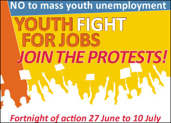 Youth Fight for Jobs Fortnight of Action, photo The Socialist
