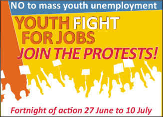 Youth Fight for Jobs fortnight of action, photo by The Socialist