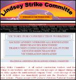 Lindsey Oil Refinery strike committee greetings