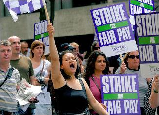 Unison Local Government strike 16-17 July 2009 in London, photo Paul Mattsson