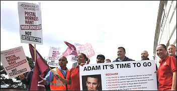 Postal workers strike, photo by Paul Mattsson