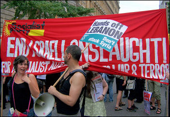 Socialist Party on demonstration against Israel