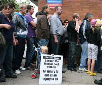 Thomas Cook occupation in Dublin, Ireland - A courageous struggle, photo by Socialist Party Ireland