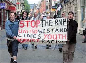 Lincolnshire Youth Fight for Jobs campaigning against the BNP