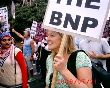 Protest against the BNP's 'festival of hate', photo Jim Reaves