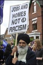 Protest against the BNP, photo Paul Mattsson
