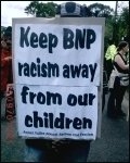 Protest against the BNP, photo Jim Reaves