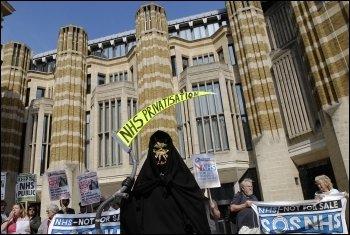NHS demonstration, photo Paul Mattsson