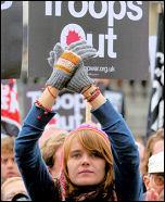 Demonstration against the war, photo Paul Mattsson