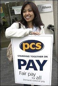 PCS workers strike , photo Paul Mattsson
