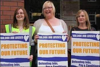 PCS workers go on strike to protect our services, photo Peter Haddon