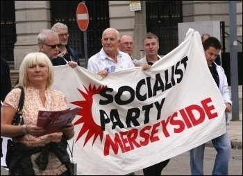 Socialists on the Liverpool Trades Council 'Time to fight back' demo at the TUC conference, photo by Harry Smith