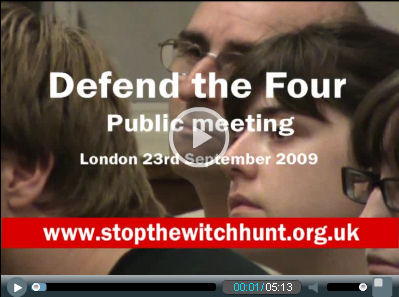 Video: Defend the Four meeting to defend four Socialist Party unison members banned from office, photo Socialist Party