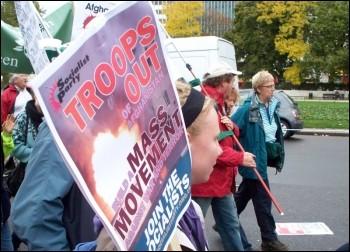 Anti-war demonstration October 2009, photo Alison Hill