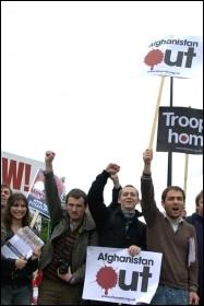 Anti-war demonstration October 2009, photo Rob Emery