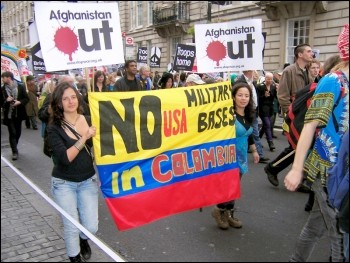 Anti-war demo October 2009, photo Bob Severn