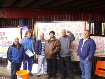 Leeds bin workers received marvellous support, photo Leeds Socialist Party