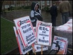 Opposing the racist EDL in Wrexham town centre, photo SP Wales