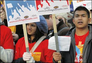 Youth Fight for Jobs demonstration 28 November 2009, photo Aleksandrs Ivanov