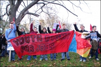 Youth Fight for Jobs demonstration 28 November 2009, photo Rob Emery