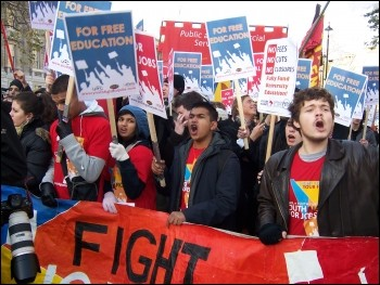 Youth Fight for Jobs demonstration 28 November 2009, photo Dave Carr