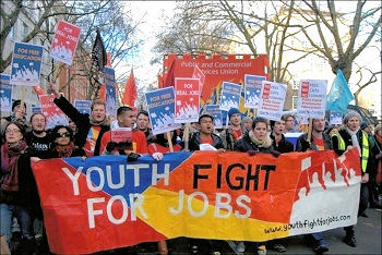 Youth Fight for Jobs, photo Sarah Mayo