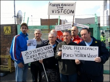 Visteon workers fighting back, photo Greg Maughan