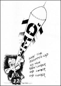 Former Prime Minister Tony Blair as Pinocchio - cartoon by Alan hardman