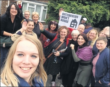Butterfields tenants and supporters celebrate the campaign's victory, 8.10.16, photo by Sarah Wrack