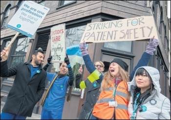 Striking junior doctors, photo Paul Mattsson